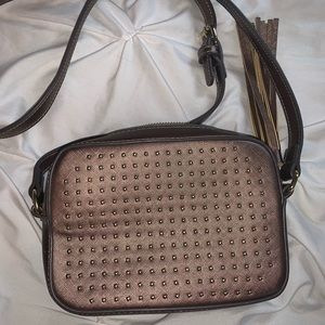 Bronze Crossbody small Purse from charming Charlie